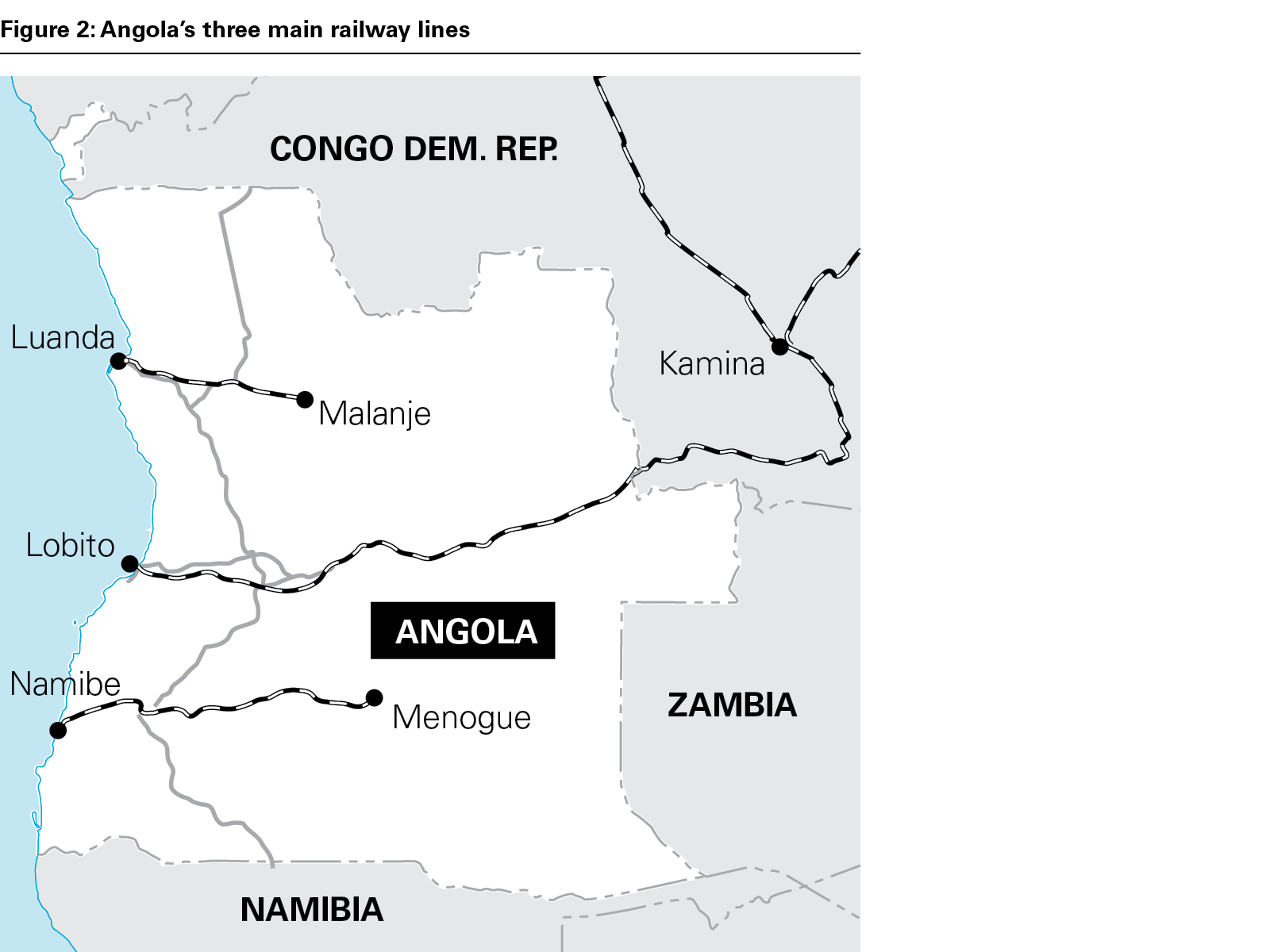 Figure 2: Angola's three main railway lines (PNG)