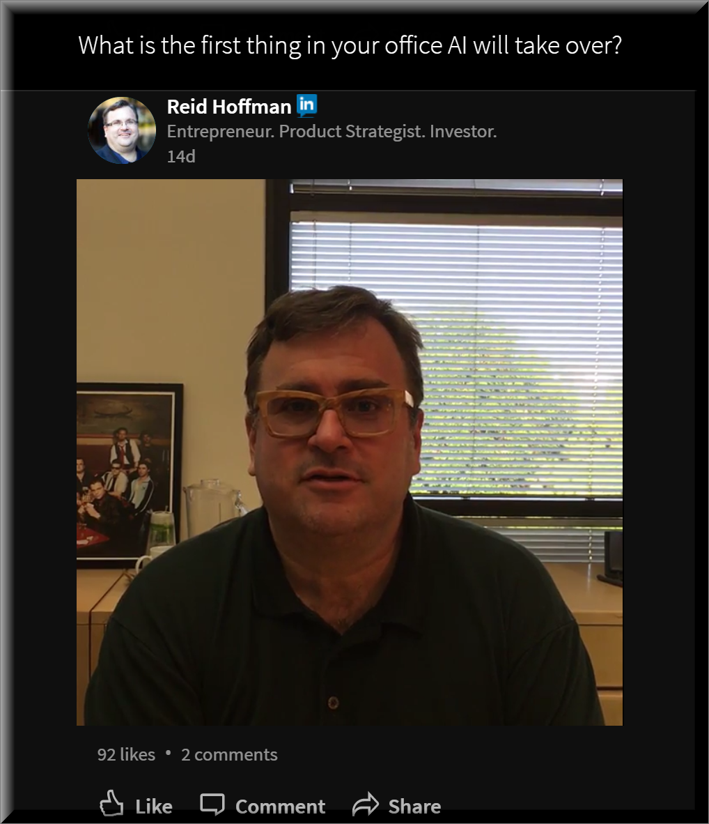 LinkedIn's Reid Hoffman Asks First Question On Record