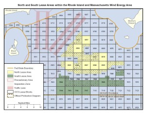 Map of the Rhode Island and Massachusetts Lease Areas
