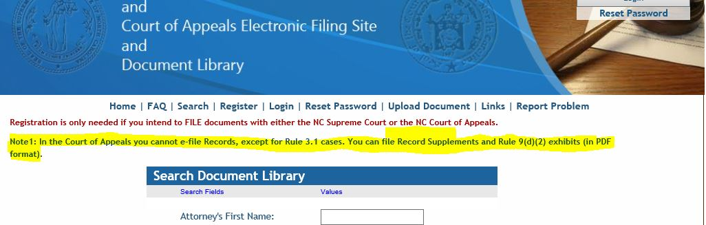 Appellate Rules Amendments Bring Modifications To E-filing
