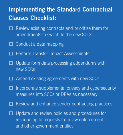 New Standard Contractual Clauses