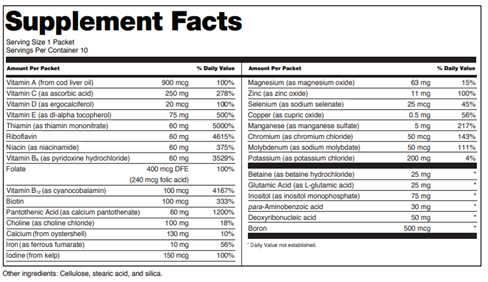 Food Label Supplement Facts