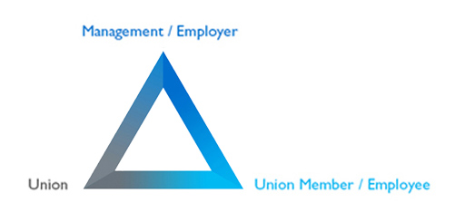 Employment relationships in a unionized workplace