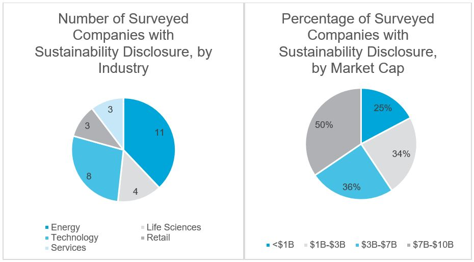 Surveyed Companies with Sustainability Disclosure