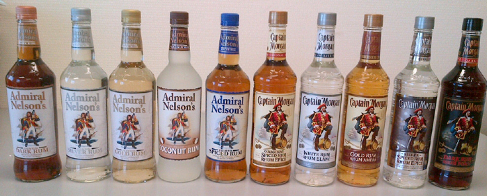 And The Largest Independent Family Owned Operated Distilled Spirits Producer In US Sells Its Five ADMIRAL NELSONS Rum Varieties With A Label