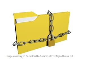 Photo: locked file folder