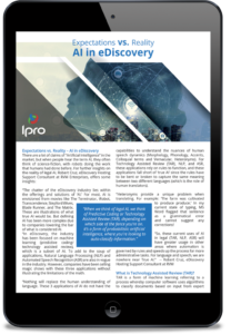 AI in eDiscovery, by Ipro