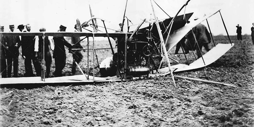 Picture of the First Toronto Plane Crash