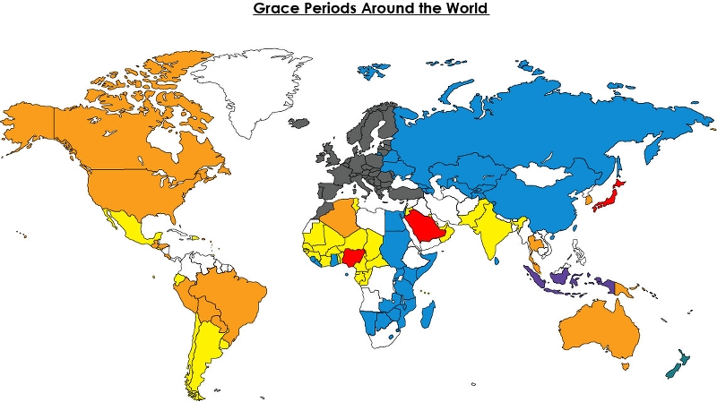 Grace Periods Around the World   Sterne, Kessler, Goldstein ... on persecuted church world map, remnant world map, pillars world map, birthright world map, zen world map, thera world map, christian persecution world map, evil world map, divinity world map, golden horn world map, sanctuary world map, sarai world map, alo world map, sunni world map, opal world map, zara world map, imagination world map, elmina world map, solomon world map, galilee world map,