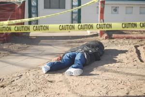 fake dead body