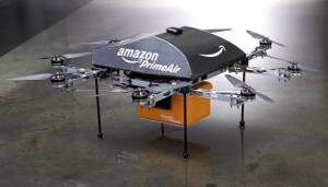 The Amazon Prime Air delivery drone.