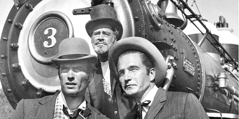 Picture of Clint Eastwood, Paul Brinegar and Eric Fleming from Rawhide