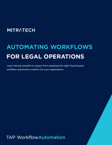 Matter Management workflow automation