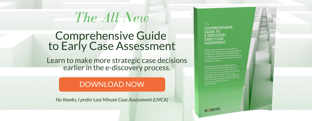 Exterro's Comprehensive Guide to Early Case Assessment