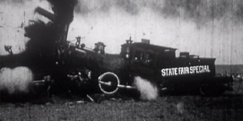 Picture of a Train Crash in 1913