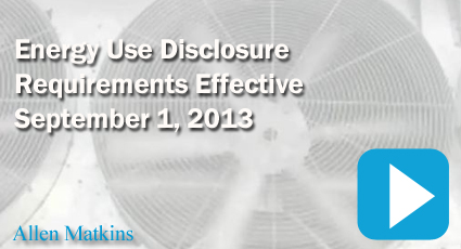 California Commercial Building Owners Must Disclosure Energy Usage of the Building