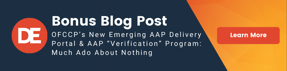 """DirectEmployers OFCCP Week In Review Bonus Blog Post: OFCCP's New Emerging AAP Delivery Portal and AAP """"Verification"""" Program: Much Ado About Nothing"""