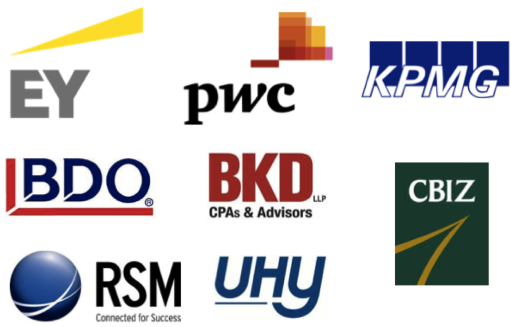 Initials logos LARGEST Accounting firms  copy