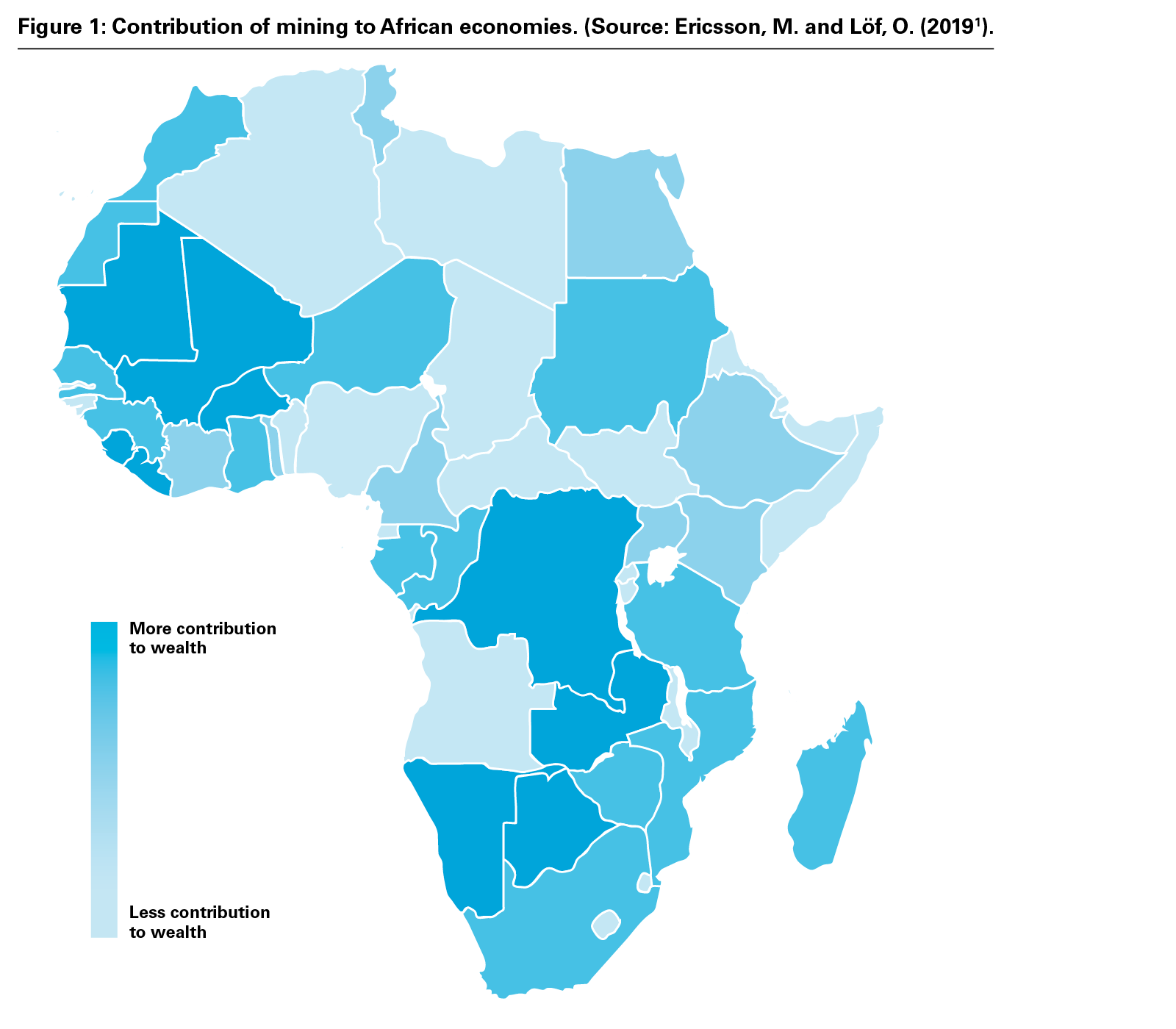 Figure 1: Contribution of mining to African economies. (Source: Ericsson, M. and Löf, O. (PNG)