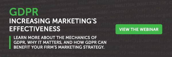 [On Demand Webinar] GDPR: Increasing Marketing's Effectiveness