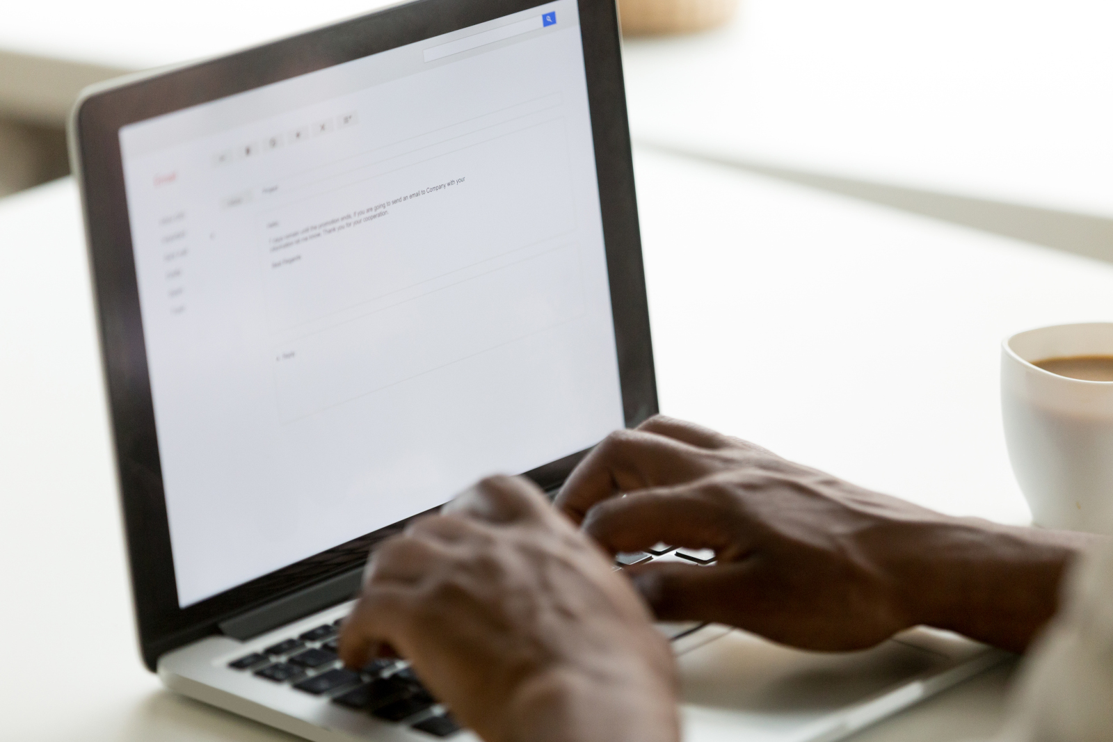 a lawyer emailing opposing counsel