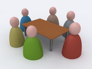 meeting around table