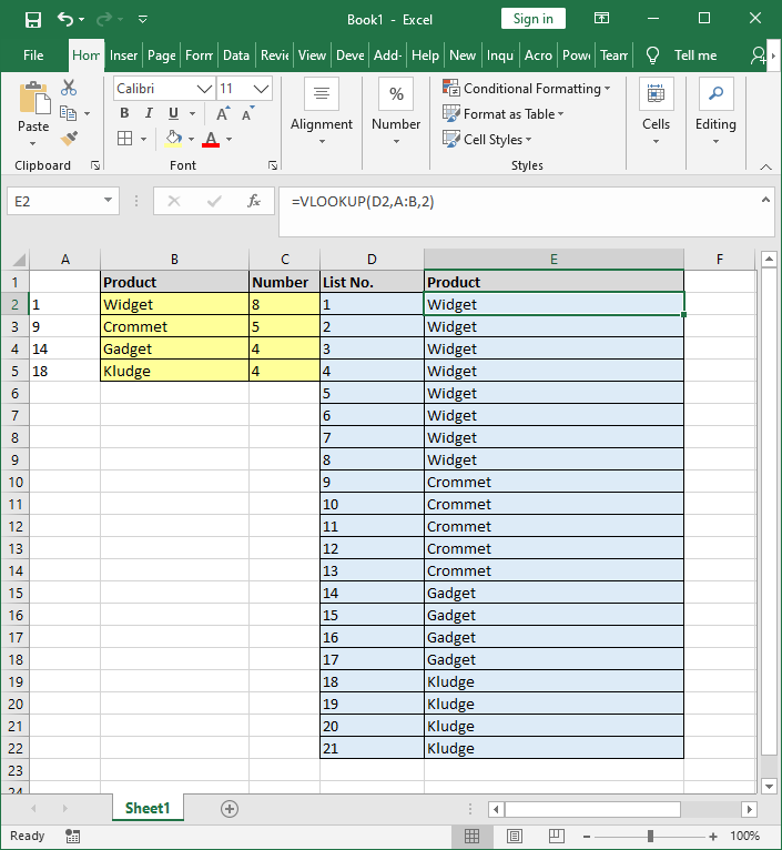 Excel Spreadsheet image