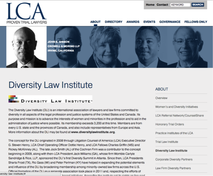 LCA Diversity Law Institute page