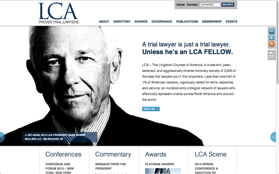 LCA Home page Ric Gass