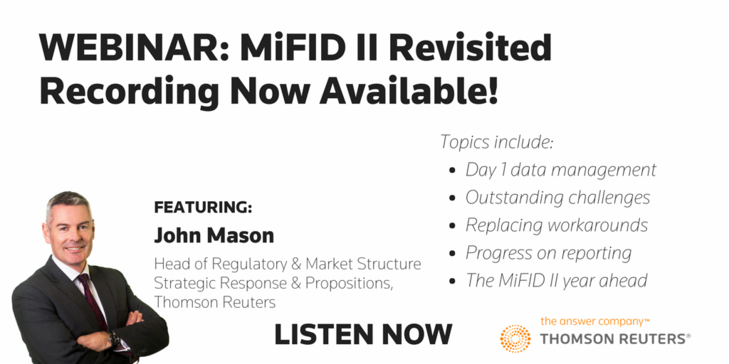 Webinar: MiFID II revisited