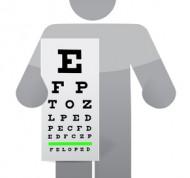 doctor and eye exam chart illustration design