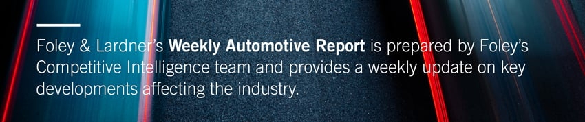 Foley Weekly Automotive Report