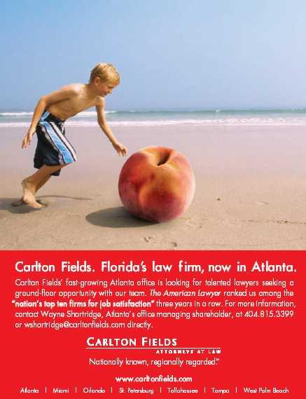 CF Carlton Ad Atlanta BEACH Ball Peach boy ad