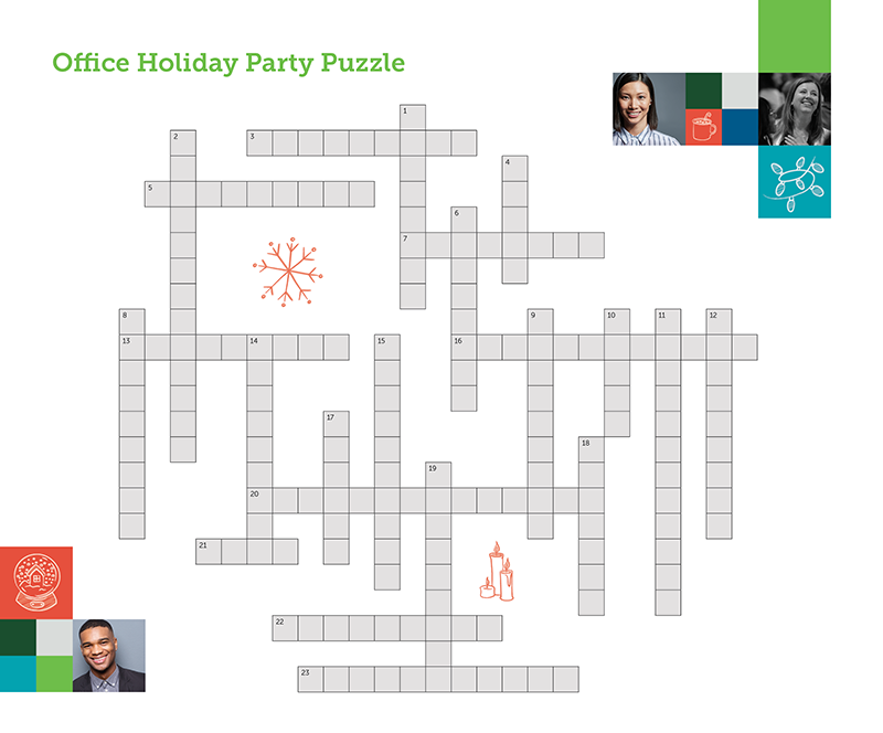 Ye Olde Holiday Crossword With Clues For Solving The Office