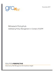 Mitratech PolicyHub: Addressing Policy Management in the Context of GDPR