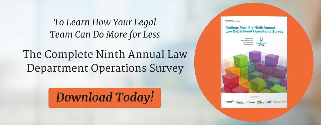 9th Annual Law Department Operations Survey