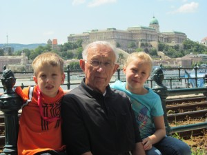 The children with my father-in-law.