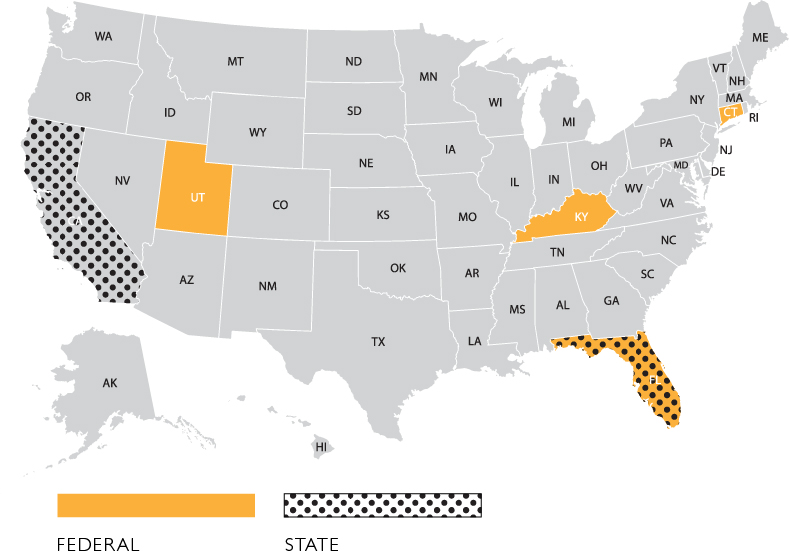 SUD Treatment Center and Recovery Home Criminal Prosecutions, by State