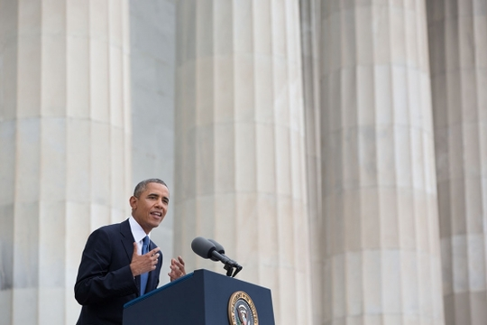 President Barack Obama delivers remarks to commemorate the 50th anniversary of the historic March on Washington